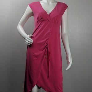 Nanette Lepore dress faux wrap vneck size 6 C1531